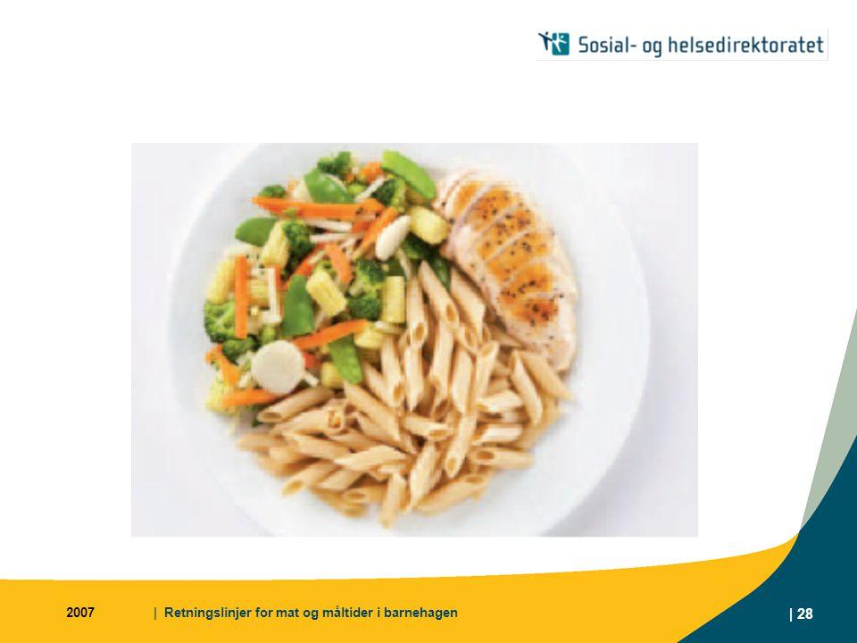 2007 | Retningslinjer for mat og måltider i barnehagen