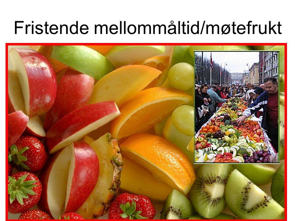 Fristende mellommåltid/møtefrukt