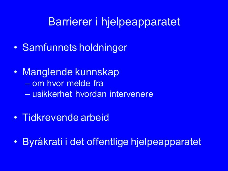Barrierer i hjelpeapparatet