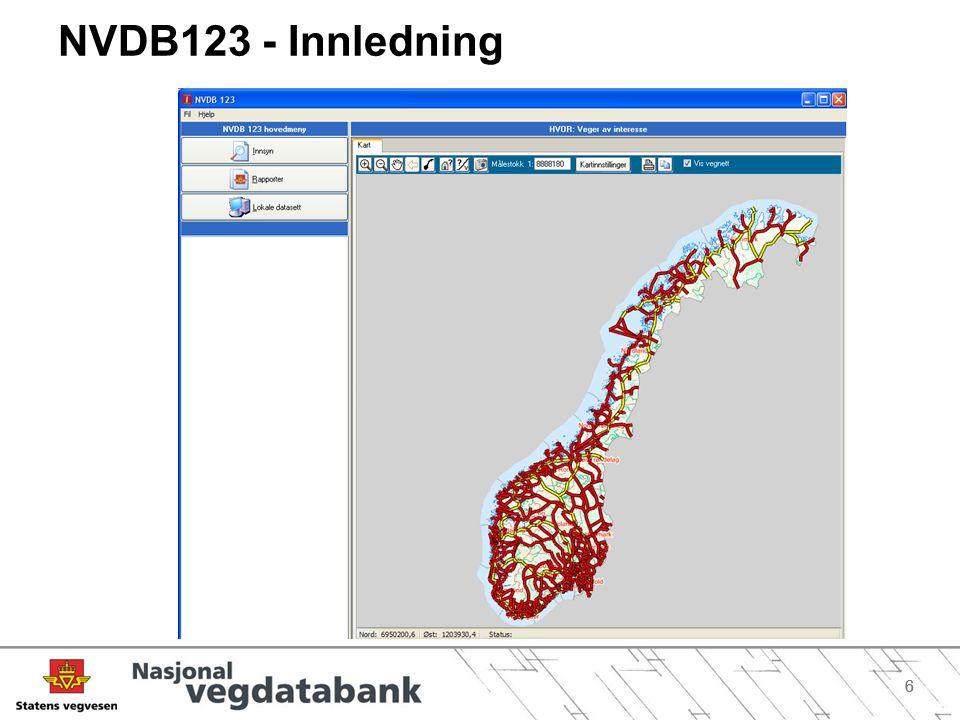 NVDB123 - Innledning