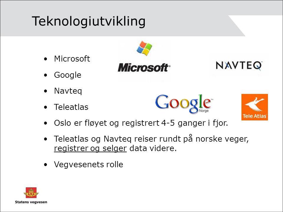 Teknologiutvikling Microsoft Google Navteq Teleatlas