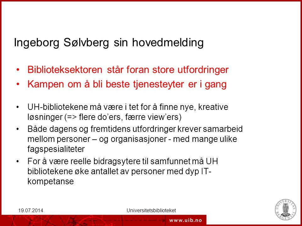Ingeborg Sølvberg sin hovedmelding