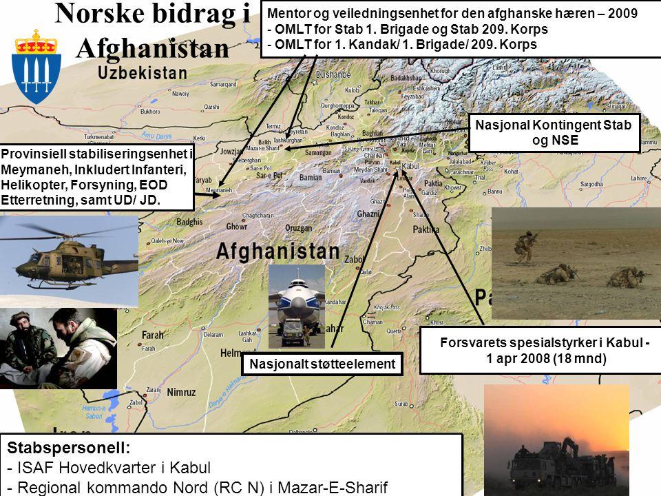 Norske bidrag i Afghanistan