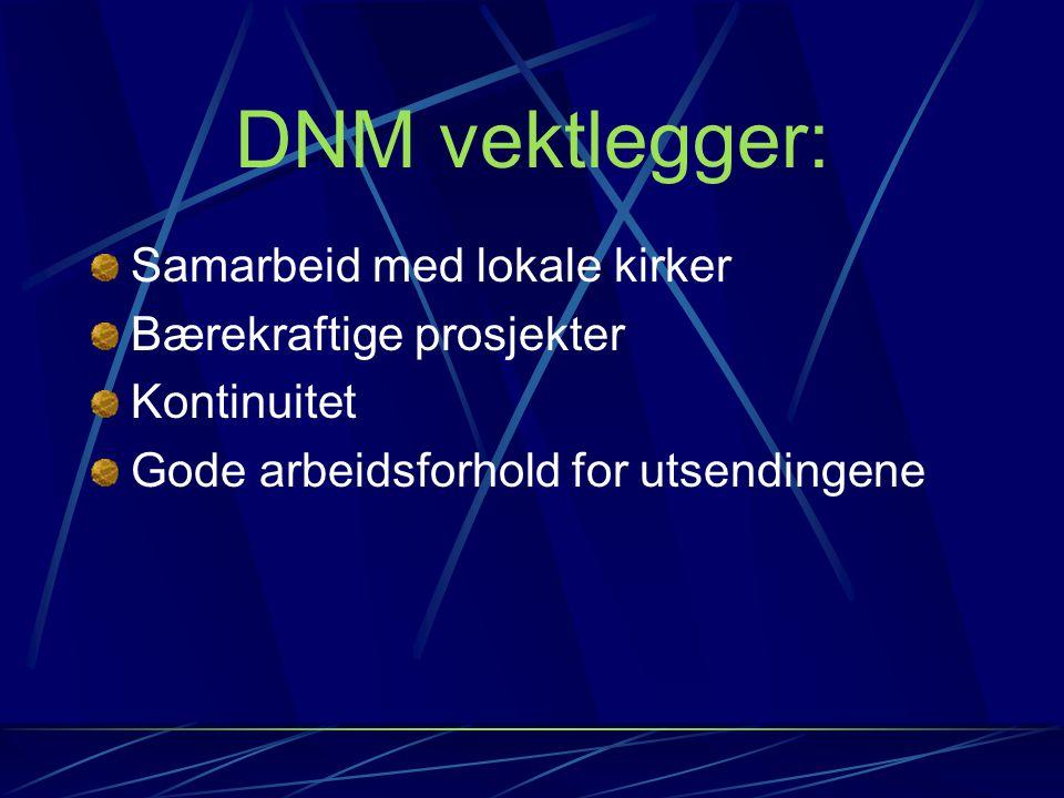 DNM vektlegger: Samarbeid med lokale kirker Bærekraftige prosjekter