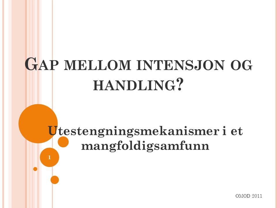 Gap mellom intensjon og handling