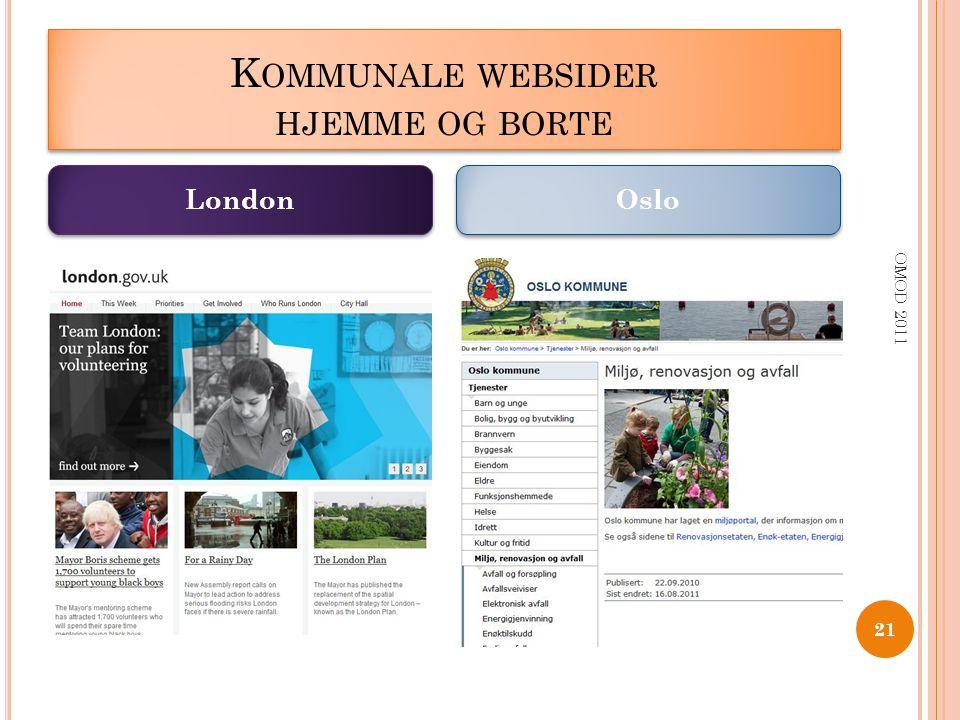 Kommunale websider hjemme og borte