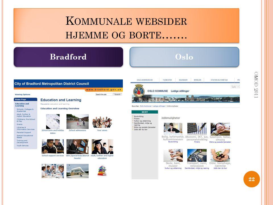 Kommunale websider hjemme og borte…….