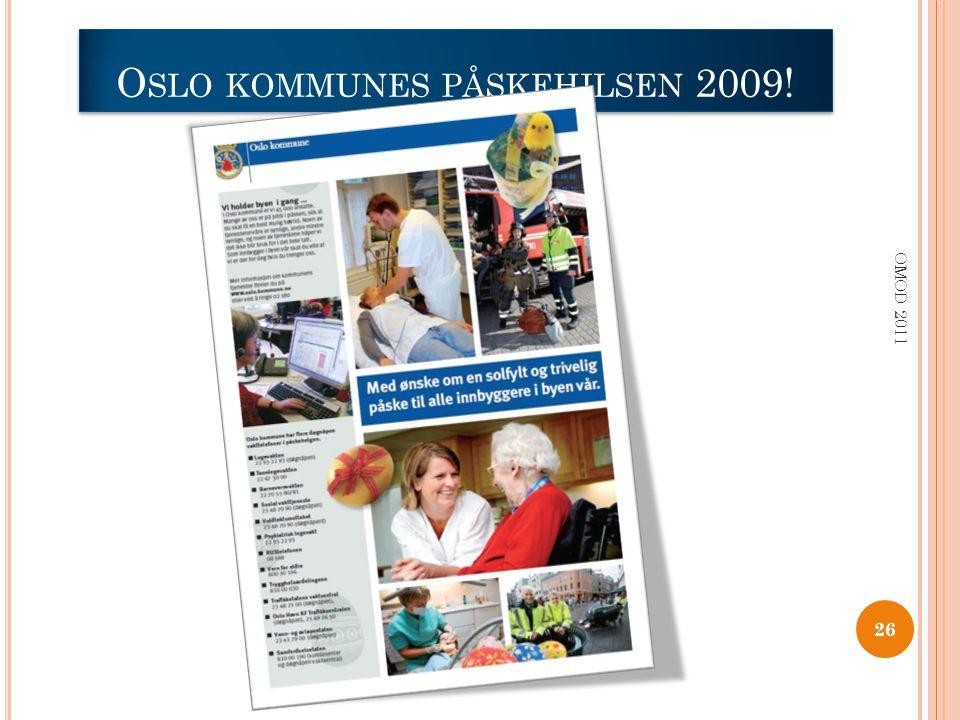 Oslo kommunes påskehilsen 2009!