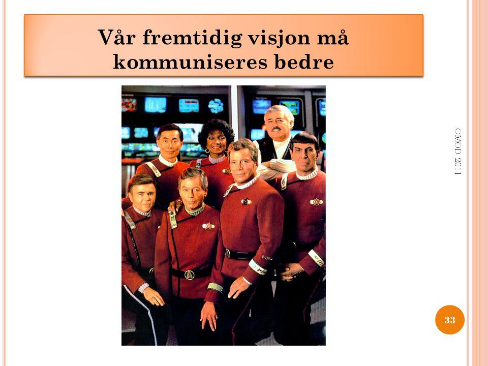 Vår fremtidig visjon må kommuniseres bedre