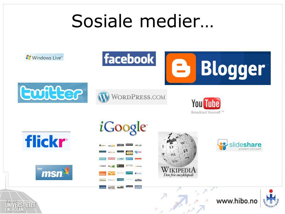 Sosiale medier…