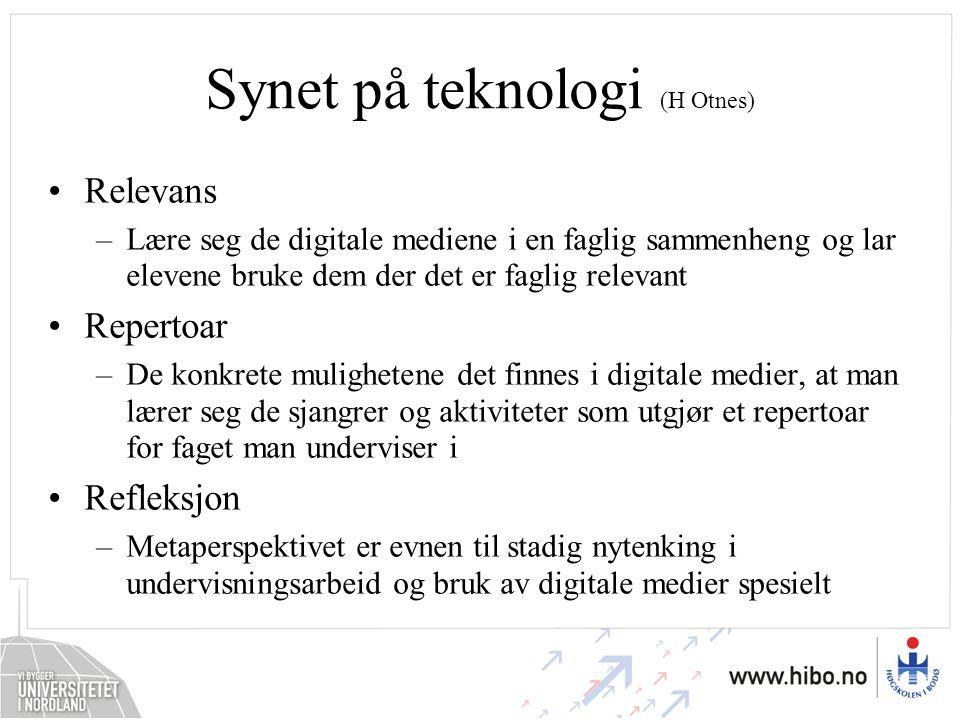 Synet på teknologi (H Otnes)