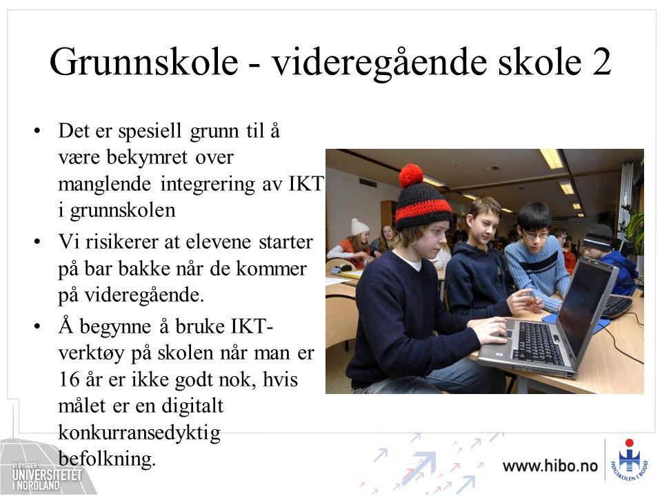 Grunnskole - videregående skole 2
