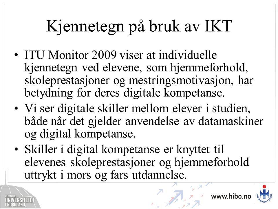 Kjennetegn på bruk av IKT