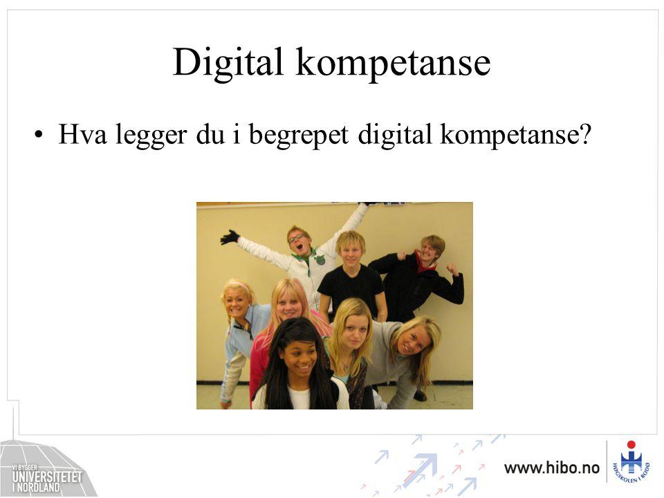 Digital kompetanse Hva legger du i begrepet digital kompetanse