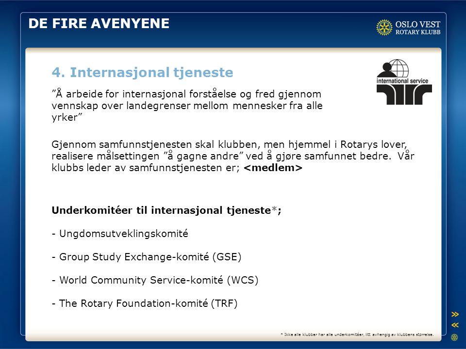 4. Internasjonal tjeneste