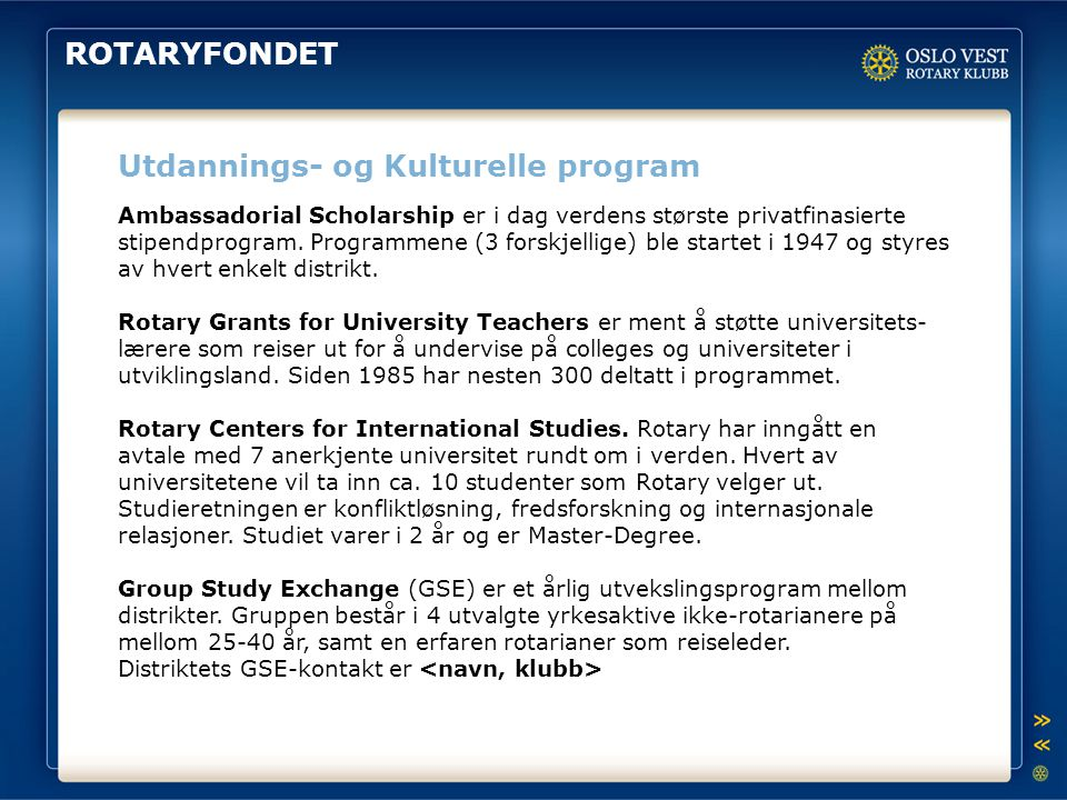 Utdannings- og Kulturelle program