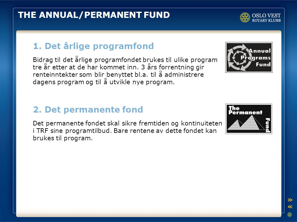 THE ANNUAL/PERMANENT FUND