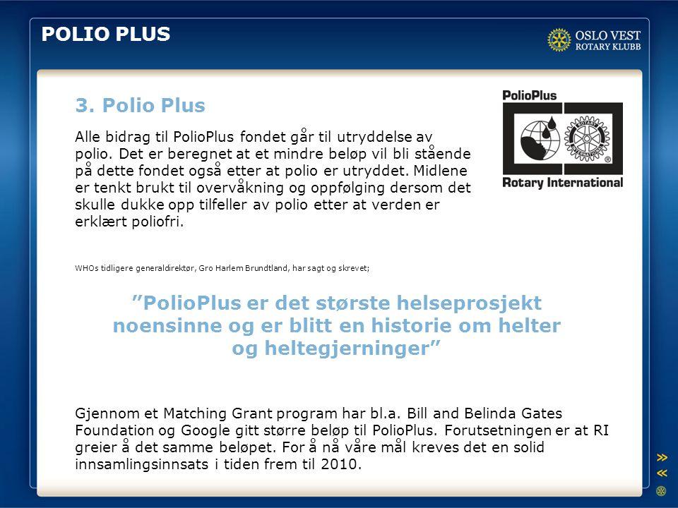POLIO PLUS 3. Polio Plus.