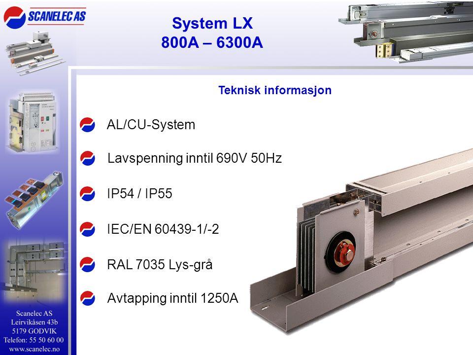 System LX 800A – 6300A AL/CU-System Lavspenning inntil 690V 50Hz