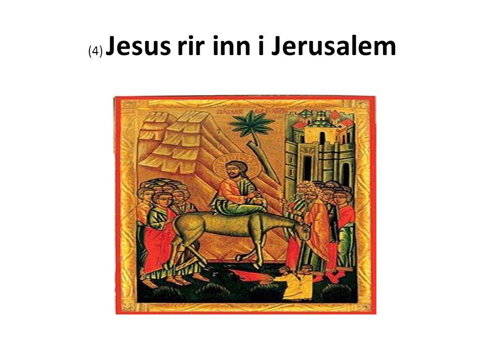 (4) Jesus rir inn i Jerusalem
