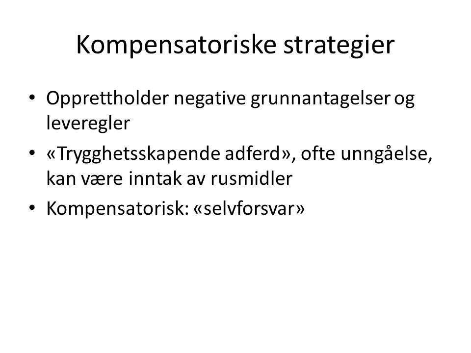 Kompensatoriske strategier
