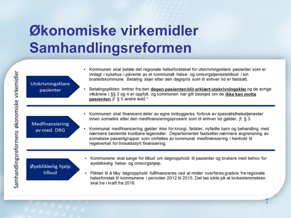 Økonomiske virkemidler Samhandlingsreformen