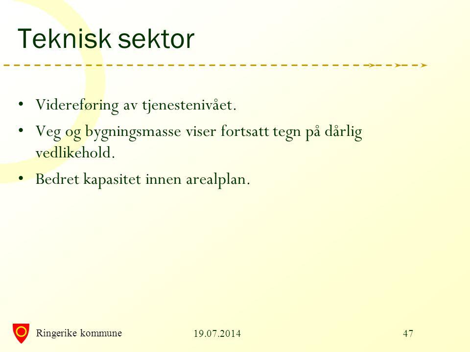 Teknisk sektor Videreføring av tjenestenivået.