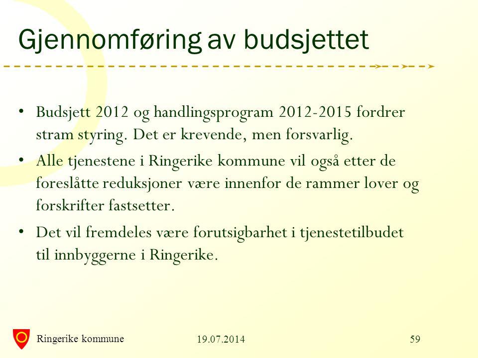 Gjennomføring av budsjettet