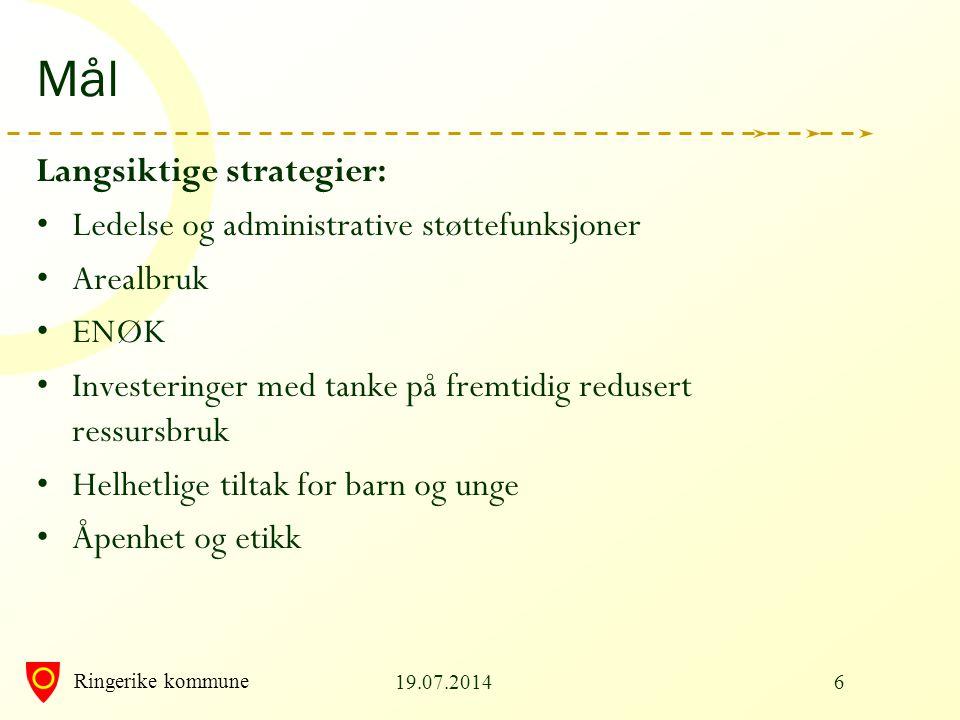 Mål Langsiktige strategier: Ledelse og administrative støttefunksjoner