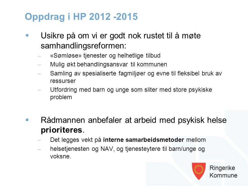 Oppdrag i HP 2012 -2015 Usikre på om vi er godt nok rustet til å møte samhandlingsreformen: «Sømløse» tjenester og helhetlige tilbud.
