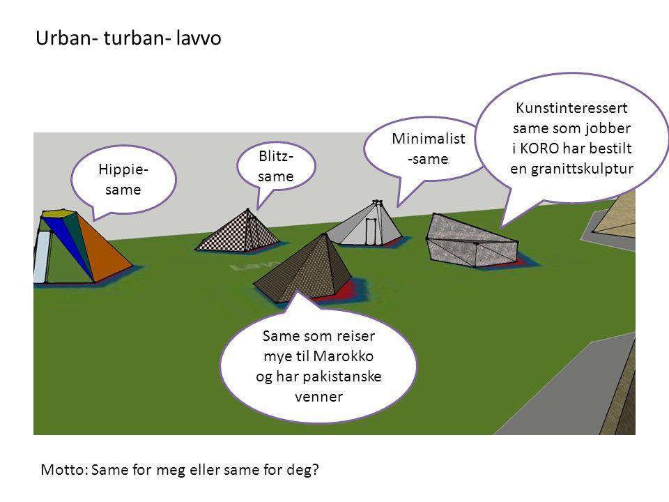 Urban- turban- lavvo Kunstinteressert same som jobber i KORO har bestilt en granittskulptur. Minimalist -same.