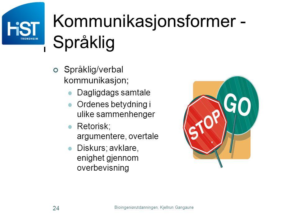 Kommunikasjonsformer - Språklig