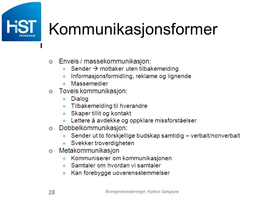Kommunikasjonsformer