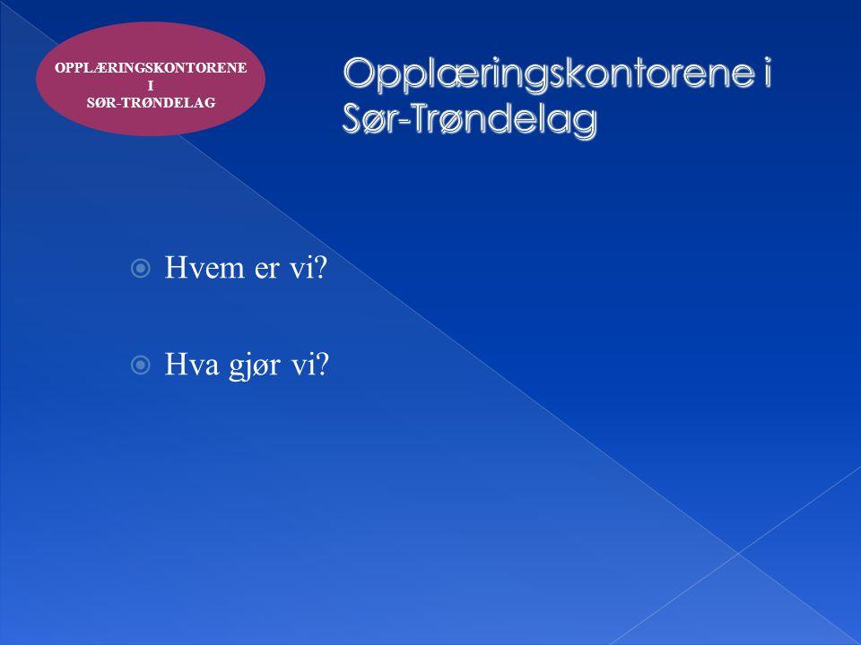 Opplæringskontorene i Sør-Trøndelag