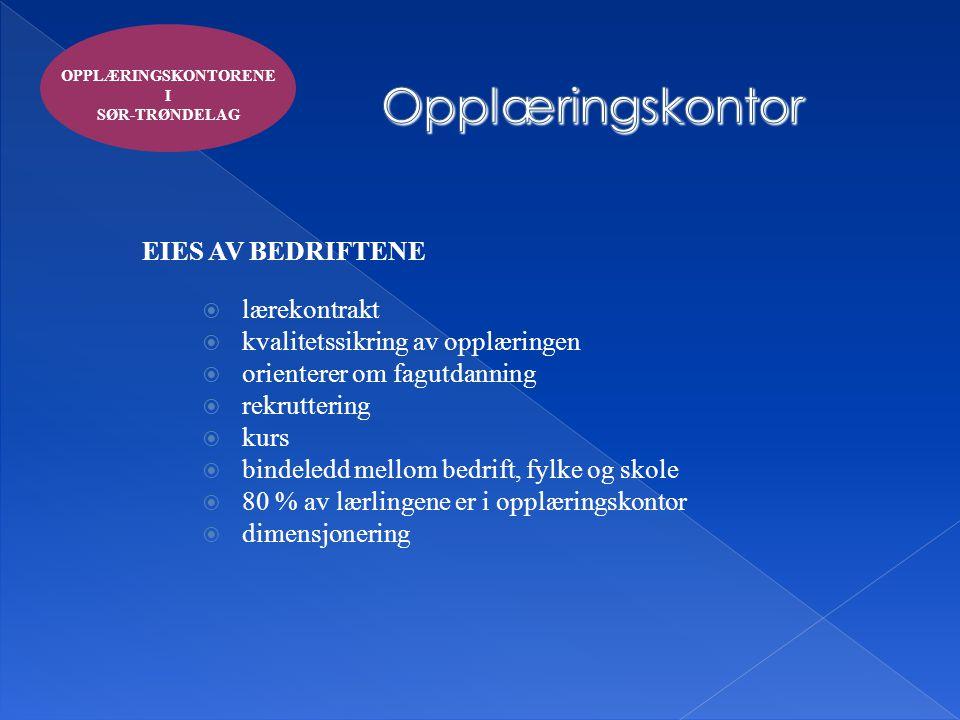 Opplæringskontor EIES AV BEDRIFTENE lærekontrakt