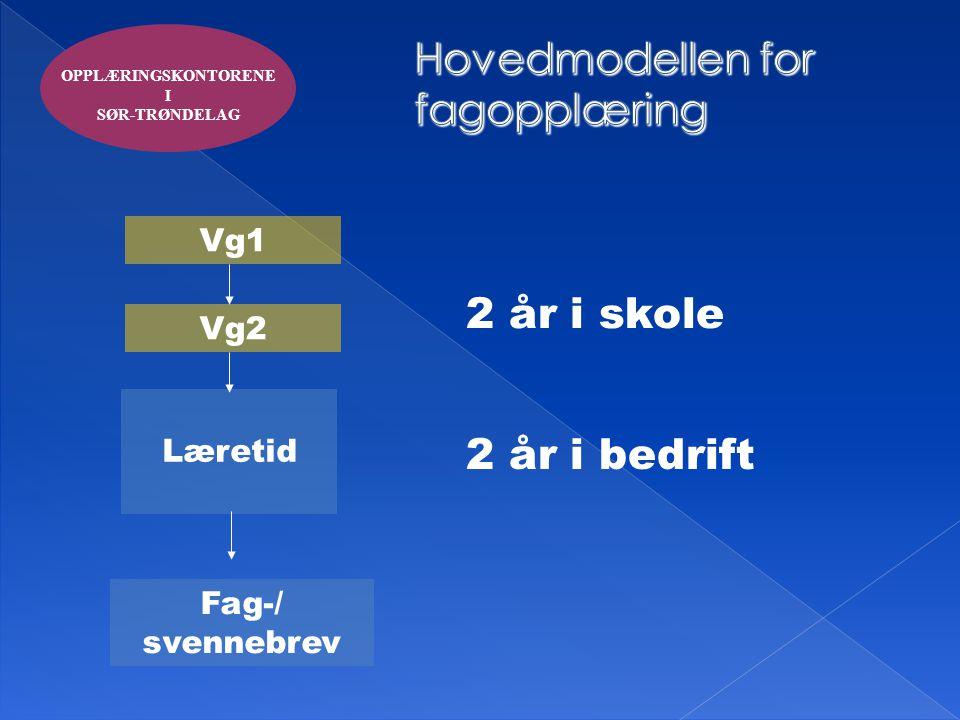 Hovedmodellen for fagopplæring