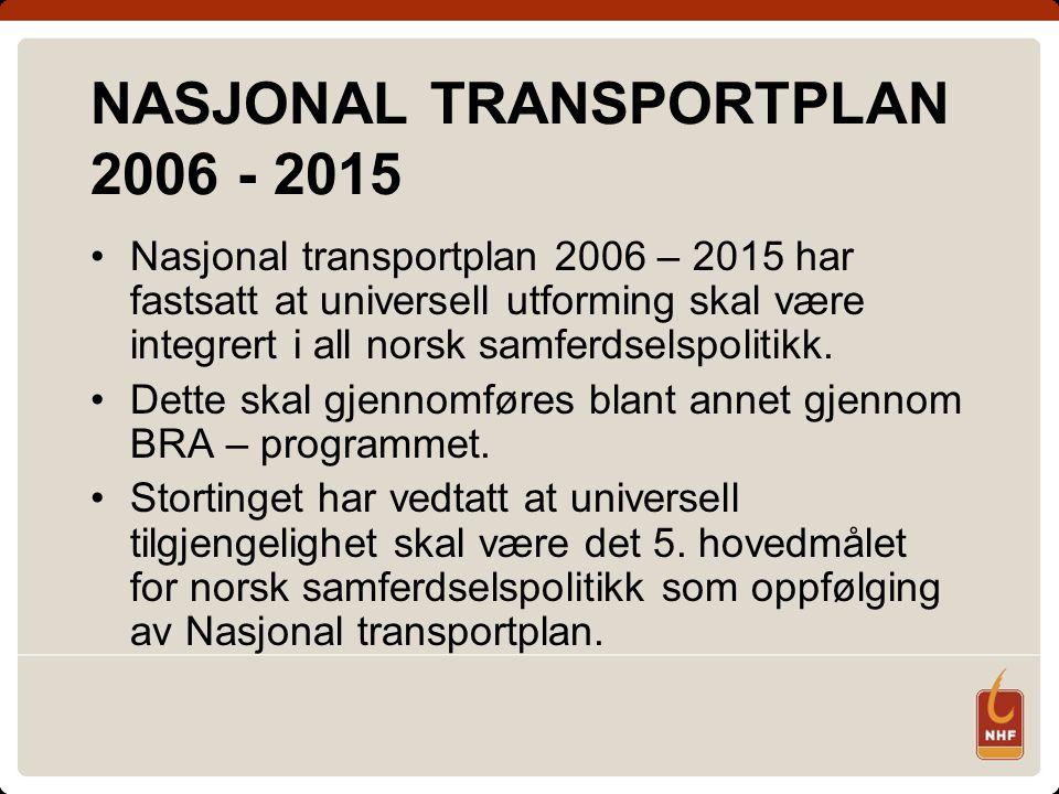 NASJONAL TRANSPORTPLAN 2006 - 2015