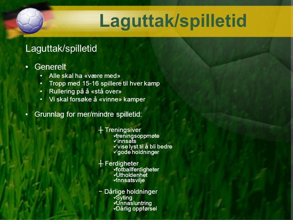 Laguttak/spilletid Laguttak/spilletid Generelt
