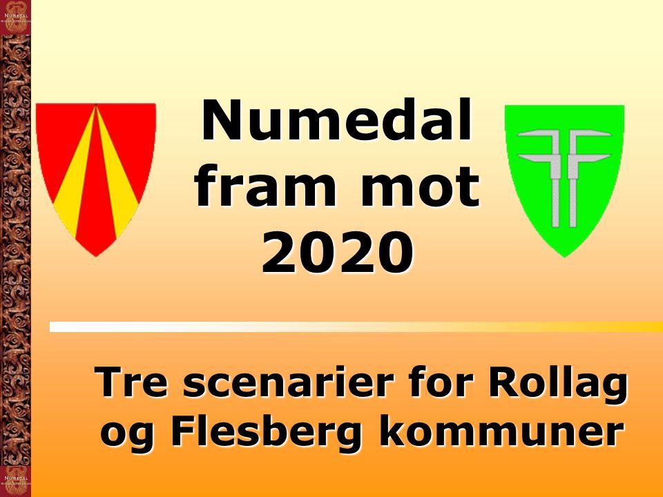 Tre scenarier for Rollag og Flesberg kommuner