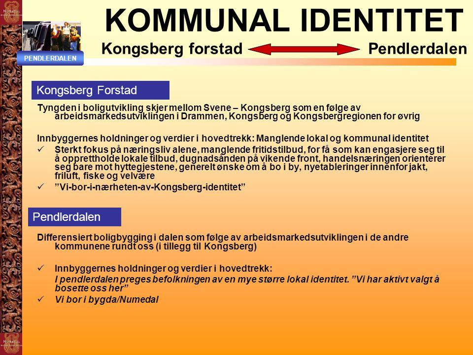 KOMMUNAL IDENTITET Kongsberg forstad Pendlerdalen