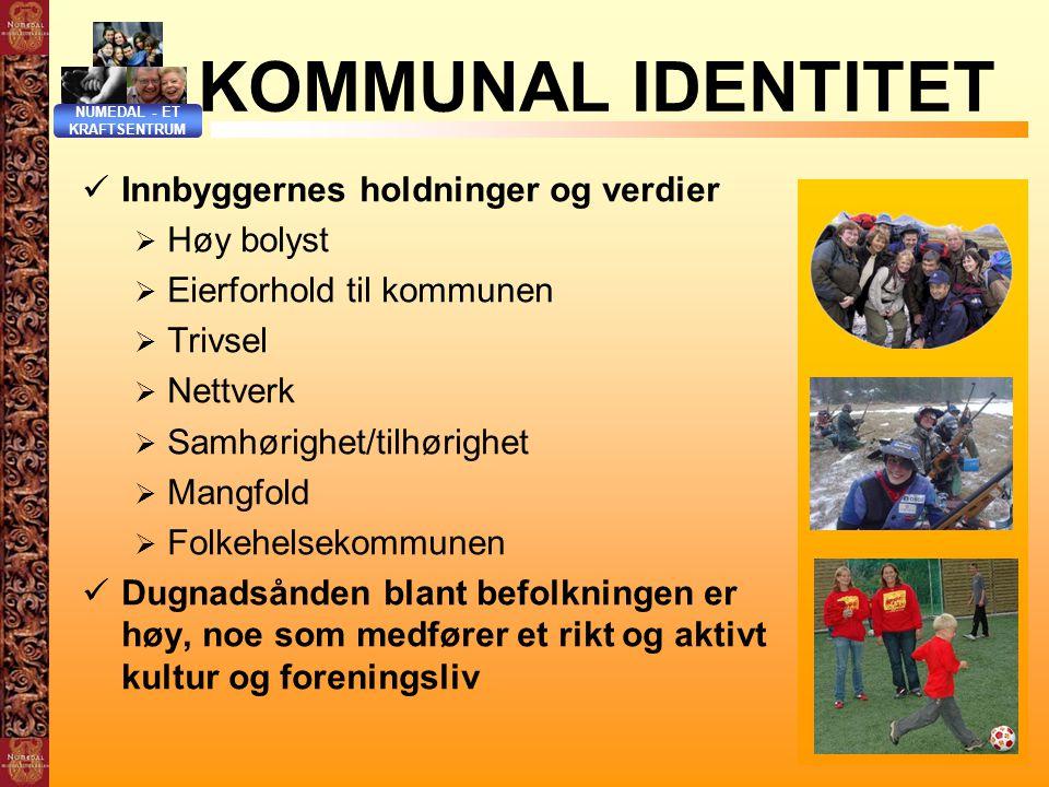 KOMMUNAL IDENTITET Innbyggernes holdninger og verdier Høy bolyst
