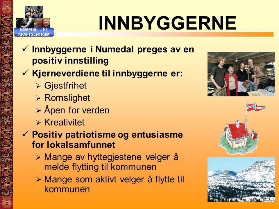 INNBYGGERNE Innbyggerne i Numedal preges av en positiv innstilling
