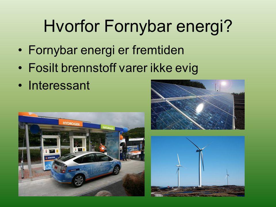 Hvorfor Fornybar energi