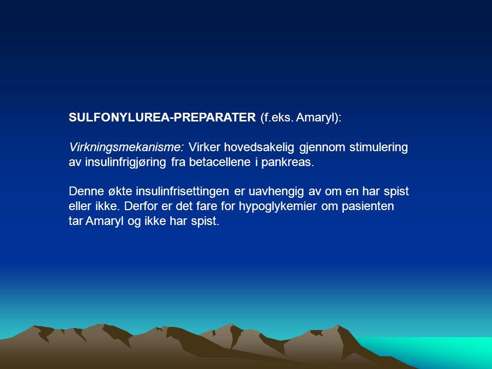 SULFONYLUREA-PREPARATER (f.eks. Amaryl):