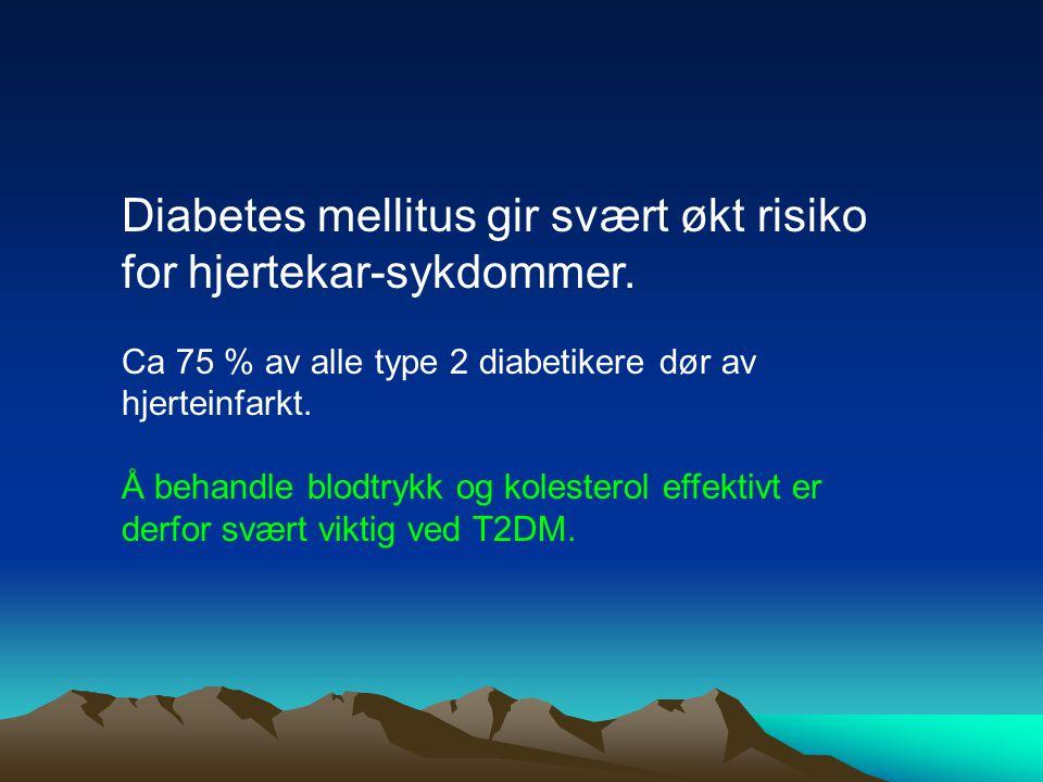 Diabetes mellitus gir svært økt risiko for hjertekar-sykdommer.