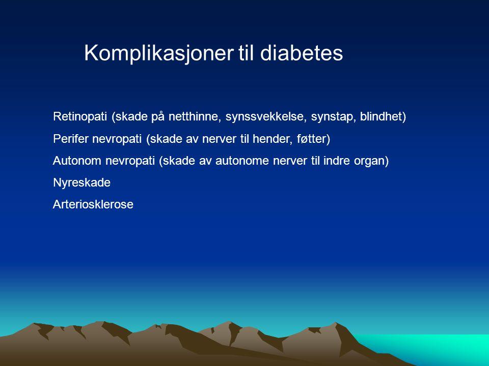 Komplikasjoner til diabetes
