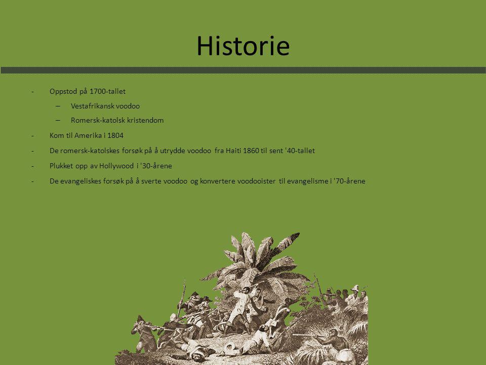 Historie Oppstod på 1700-tallet Vestafrikansk voodoo