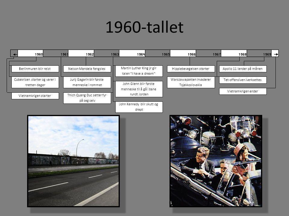 1960-tallet Berlinmuren blir reist Nelson Mandela fengsles