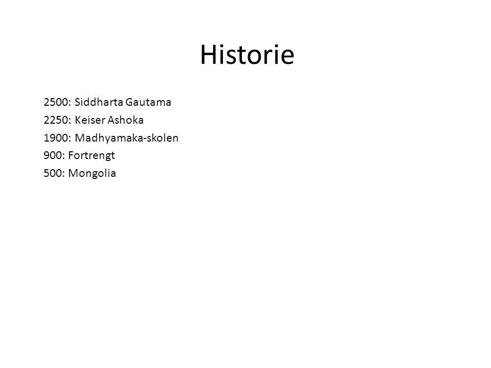 Historie 2500: Siddharta Gautama 2250: Keiser Ashoka
