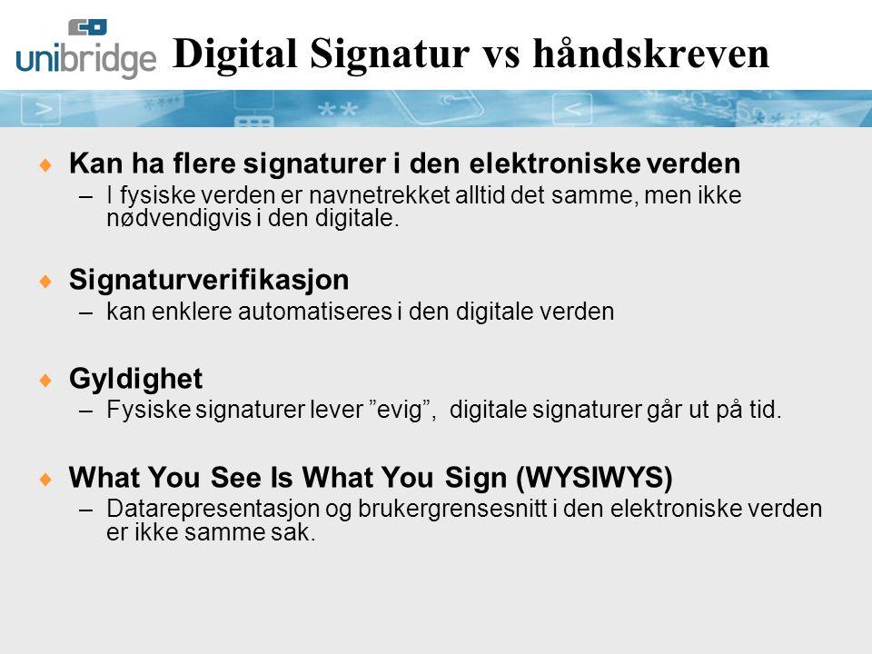 Digital Signatur vs håndskreven